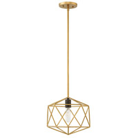 Astrid 1 Light 12 inch Deluxe Gold Pendant Ceiling Light