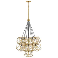 Astrid 11 Light 34 inch Deluxe Gold with Metallic Matte Bronze Accents Chandelier Ceiling Light, Multi Tier
