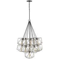 Hinkley 3029GG Astrid 11 Light 34 inch Glacial/Metallic Matte Bronze Chandelier Ceiling Light