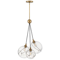 Hinkley 30304HBR Lisa McDennon Skye 3 Light 18 inch Heritage Brass Pendant Ceiling Light