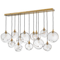 Hinkley 30305HBR Lisa McDennon Skye 13 Light 60 inch Heritage Brass Chandelier Ceiling Light