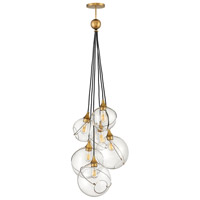 Hinkley 30306HBR Skye 6 Light 24 inch Heritage Brass Chandelier Ceiling Light, Multi Tier