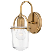 Hinkley 3030LCB Clancy 1 Light 6 inch Lacquered Brass Wall Sconce Wall Light