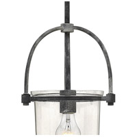 Hinkley 3031DZ Clancy 1 Light 10 inch Aged Zinc Foyer Pendant Ceiling Light, Clear Glass alternative photo thumbnail