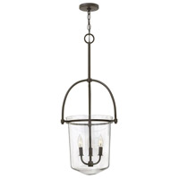 Clancy 3 Light 16 inch Buckeye Bronze Foyer Light Ceiling Light, Clear Glass
