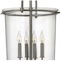 Hinkley 3034BN Clancy 4 Light 19 inch Brushed Nickel Foyer Light Ceiling Light, Clear Glass alternative photo thumbnail