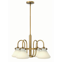 Hinkley 3040BC Congress 4 Light 26 inch Brushed Caramel Chandelier Ceiling Light, Retro Glass