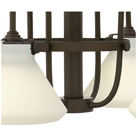 Hinkley 3040OZ Congress 4 Light 26 inch Oil Rubbed Bronze Chandelier Ceiling Light, Retro Glass alternative photo thumbnail