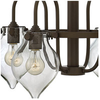 Hinkley 3047OZ Congress 4 Light 24 inch Oil Rubbed Bronze Chandelier Ceiling Light, Retro Glass alternative photo thumbnail