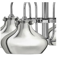 Hinkley 3048CM Congress 4 Light 28 inch Chrome Chandelier Ceiling Light, Retro Glass alternative photo thumbnail