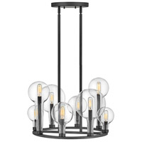 Hinkley 30526BK Alchemy 8 Light 24 inch Black Chandelier Ceiling Light