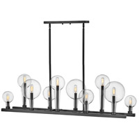 Hinkley 30528BK Alchemy 10 Light 48 inch Black Chandelier Ceiling Light