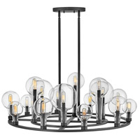 Hinkley 30529BK Alchemy 16 Light 38 inch Black Chandelier Ceiling Light