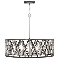 Hinkley 3066GG Portico 6 Light 28 inch Glacial Gold Chandelier Pendant Ceiling Light