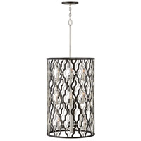 Hinkley 3069GG Portico 9 Light 19 inch Glacial with Metallic Matte Bronze Accents Chandelier Ceiling Light