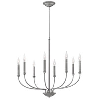 Alister 8 Light 28 inch Antique Nickel Chandelier Ceiling Light