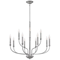 Alister 12 Light 32 inch Antique Nickel Chandelier Ceiling Light