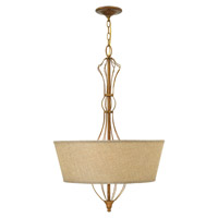 Hinkley 3084GF Celine 4 Light 22 inch Antique Gold Leaf Hanging Foyer Ceiling Light photo thumbnail