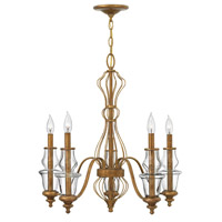 Celine 5 Light 25 inch Antique Gold Leaf Chandelier Ceiling Light