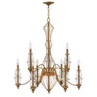 Celine 9 Light 34 inch Antique Gold Leaf Chandelier Ceiling Light