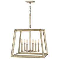 Hinkley 3106SL Tinsley 6 Light 22 inch Silver Leaf Chandelier Ceiling Light