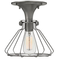 Hinkley Lighting Congress 1 Light Semi Flush in Antique Nickel 3114AN