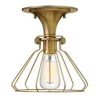 Hinkley Lighting Congress 1 Light Semi Flush in Brushed Caramel 3114BC