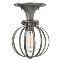 Hinkley Lighting Congress 1 Light Semi Flush in Antique Nickel 3115AN