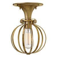 Hinkley Lighting Congress 1 Light Semi Flush in Brushed Caramel 3115BC