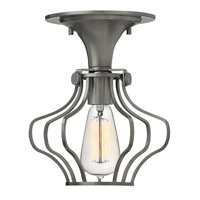 Hinkley Lighting Congress 1 Light Semi Flush in Antique Nickel 3116AN
