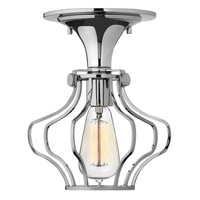Hinkley Lighting Congress 1 Light Semi Flush in Chrome 3116CM
