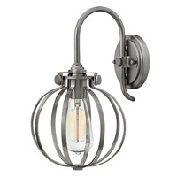 Hinkley Lighting Congress 1 Light Sconce in Antique Nickel 3118AN