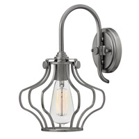 Hinkley Lighting Congress 1 Light Sconce in Antique Nickel 3119AN
