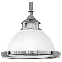 Hinkley 3122PT Amelia 1 Light 12 inch Polished White Pendant Ceiling Light alternative photo thumbnail