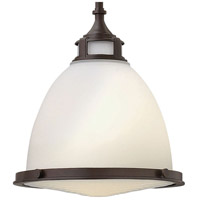 Hinkley 3124KZ Amelia 1 Light 13 inch Buckeye Bronze Mini-Pendant Ceiling Light in Incandescent, Etched Opal Glass alternative photo thumbnail