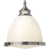 Hinkley 3124PL Amelia 1 Light 13 inch Polished Antique Nickel Mini-Pendant Ceiling Light in Incandescent, Etched Opal Glass alternative photo thumbnail