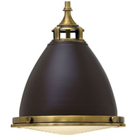 Hinkley 3126KZ Amelia 1 Light 13 inch Buckeye Bronze Mini-Pendant Ceiling Light in Incandescent, Etched Prismatic Lense alternative photo thumbnail