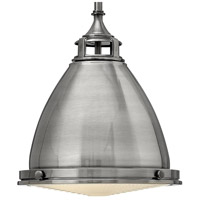 Hinkley 3126PL Amelia 1 Light 13 inch Polished Antique Nickel Mini-Pendant Ceiling Light in Incandescent, Etched Prismatic Lense alternative photo thumbnail