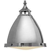 Hinkley 3126PN Amelia 1 Light 13 inch Polished Nickel Mini-Pendant Ceiling Light in Incandescent, Etched Prismatic Lense alternative photo thumbnail