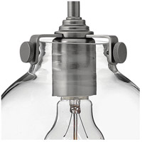 Hinkley 3128AN Congress 1 Light 7 inch Antique Nickel Mini-Pendant Ceiling Light, Retro Glass alternative photo thumbnail