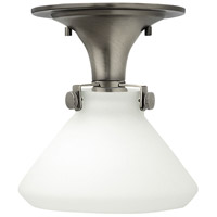 Congress 1 Light 8 inch Antique Nickel Flush Mount Ceiling Light in Incandescent, Retro Glass