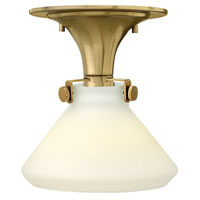 Hinkley 3140BC Congress 1 Light 8 inch Brushed Caramel Flush Mount Ceiling Light in Incandescent, Retro Glass