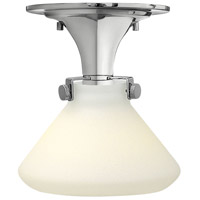 Hinkley 3140CM Congress 1 Light 8 inch Chrome Flush Mount Ceiling Light in Incandescent, Retro Glass
