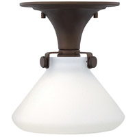Congress 1 Light 8 inch Oil Rubbed Bronze Foyer Flush Mount Ceiling Light in Incandescent, Retro Glass