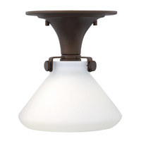 Hinkley Lighting Congress 1 Light Flush Mount in Oil Rubbed Bronze with Etched Opal Glass 3140OZ-LED