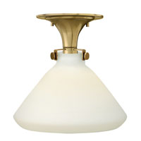 Hinkley 3141BC Congress 1 Light 12 inch Brushed Caramel Flush Mount Ceiling Light in Incandescent, Retro Glass