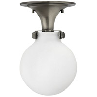 Hinkley 3143AN Congress 1 Light 7 inch Antique Nickel Flush Mount Ceiling Light in Incandescent, Retro Glass