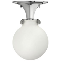 Congress 1 Light 7 inch Chrome Foyer Flush Mount Ceiling Light in Incandescent, Retro Glass