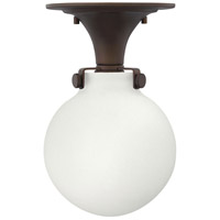 Congress 1 Light 7 inch Oil Rubbed Bronze Foyer Flush Mount Ceiling Light in Incandescent, Retro Glass
