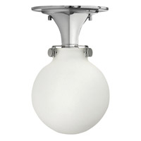 Hinkley 3143CM-LED Congress 1 Light 7 inch Chrome Flush Mount Ceiling Light in LED, Etched Opal Glass